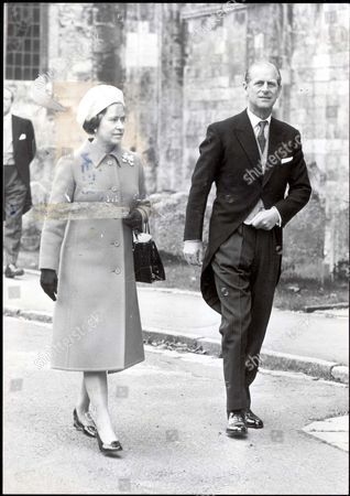 The Queen And Prince Philip Arrive At Romsey Abbey In Hampshire This Afternoon For The Wedding Of Lord Brabourne - Grandson And Heir Of The Late Lord Mountbatten - To 26 Year Old Penelope Eastwood.