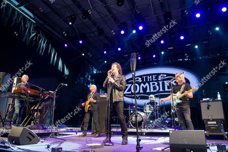 The Zombies - Rod Argent, Jim Rodford, Steve Rodford, Colin Blunstone, and Tom Toomey of The Zombies