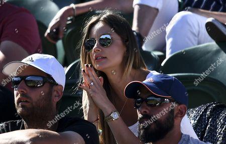 Tomas Berdych's wife, Ester Satorova looks on