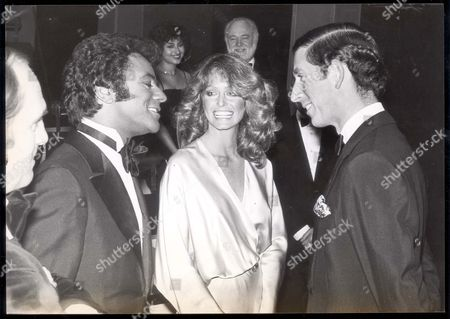 Prince Charles - Prince Of Wales - 9 April 1978 Prince Charles Chats With Johnny Mathis And Farrah Fawcett-majors....royalty