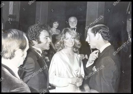 Prince Charles - Prince Of Wales - 9 April 1978 Prince Charles With Johnny Mathis And Farrah Fawcett-majors After The Royal Gala Charity Show 'supernight.'...royalty