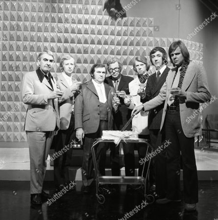Ray Cameron, Lennie Bennett, Peter Goodwright and Milo O'Shea, Tim Brooke-Taylor, Les Dawson, with Barry Cryer