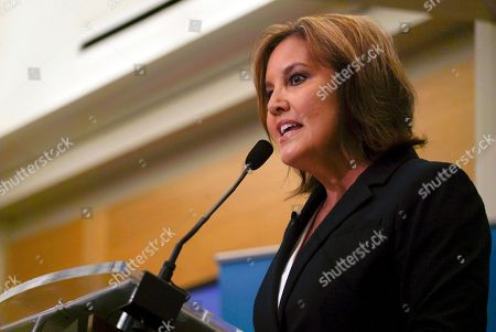 Stock Photo of Ohio Lt. Gov. Mary Taylor speaks before a gathering of Republicans at the City Club of Cleveland in Cleveland, . Taylor announced her entry into Ohio's crowded 2018 gubernatorial race Friday, with the promised backing of GOP Gov. John Kasich