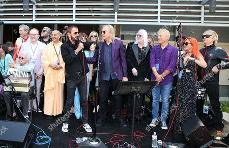 Editorial picture of Ringo Starr Birthday #PeaceAndLove Salute Celebration, Capitol Records Tower, Los Angeles, USA  - 07 Jul 2017