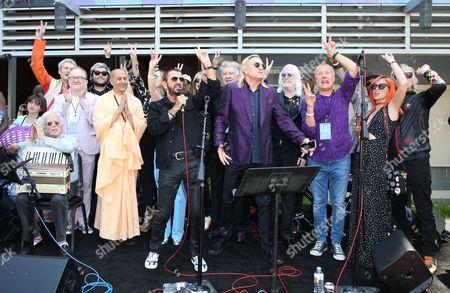 Editorial image of Ringo Starr Birthday #PeaceAndLove Salute Celebration, Capitol Records Tower, Los Angeles, USA  - 07 Jul 2017
