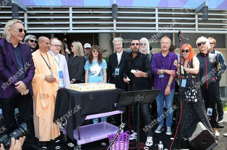 Stock Photo of Ringo Starr, David Lynch, Jenny Lewis, Edgar Winter, Barbara Bach, Zak Starkey, Peter Asher, Jim Keltner, Gregg Bissonette, Matt Sorum