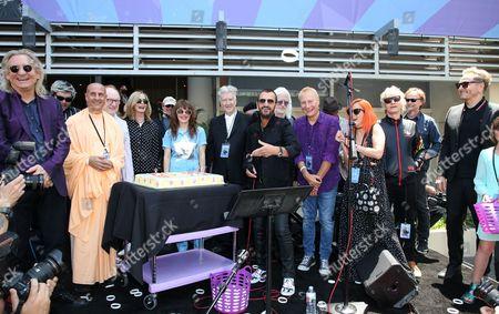 Stock Picture of Ringo Starr, David Lynch, Jenny Lewis, Edgar Winter, Barbara Bach, Zak Starkey, Peter Asher, Jim Keltner, Gregg Bissonette, Matt Sorum
