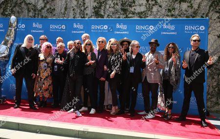 Editorial photo of Ringo Starr Birthday #PeaceAndLove Salute Celebration, Capitol Records Tower, Los Angeles, USA  - 07 Jul 2017