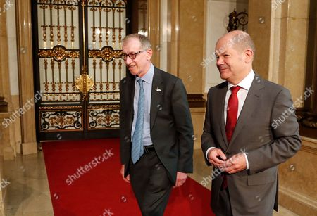 Stock Photo of Olaf Scholz and Philip John May