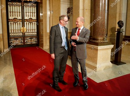 Stock Picture of Olaf Scholz and Philip John May