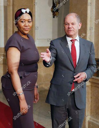 Olaf Scholz and Thobeka Madiba-Zuma