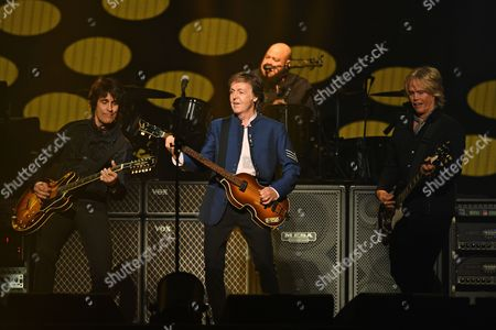 Stock Image of Rusty Anderson, Sir Paul McCartney, Brian Ray