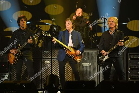 Stock Picture of Rusty Anderson, Sir Paul McCartney, Brian Ray