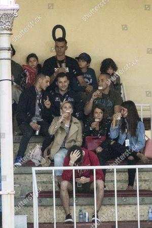 Paz Vega, Orson Salazar and children; Elena Furiase ; Blanca Suarez with boyfriend Joel Bosqued