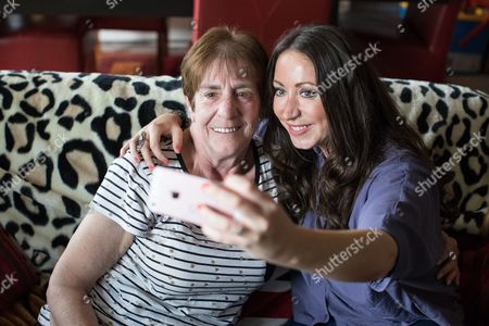 Stock Picture of Unprompted , Barbara Dransfield and Paula Williamson pose together for a selfie , initiated by Williamson .
