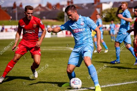 Bolton Wanderers defender Andy Taylor (3) in action during the Pre-Season Friendly match between Chorley and Bolton Wanderers at Victory Park, Chorley