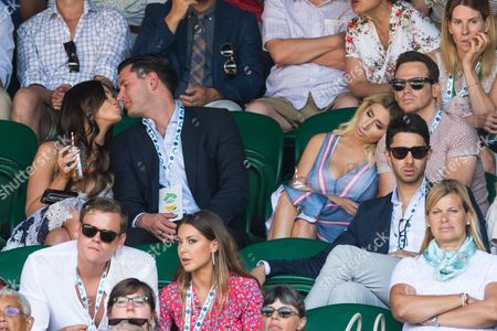Vicky Pattison, John Noble, Stacey Solomon and Joe Swash watch center court tennis on the sixth of the Wimbledon Lawn Tennis Championships.