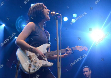 Country singer Aubrie Sellers performs live at Henry Maier Festival Park during Summerfest in Milwaukee, Wisconsin