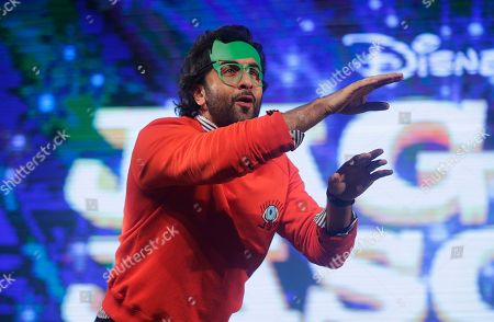 "Bollywood actor Ranbir Kapoor performs to promote his upcoming movie ""Jagga Jasoos"" at an event in Mumbai, India, . The movie is scheduled to be released on July 14"