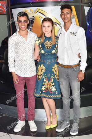 Stock Picture of Joshua Sinclair-Evans, Mia Jenkins and Jayden Revri