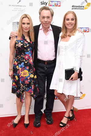 Sir Andrew Lloyd Webber and daughters Imogen Lloyd Webber and Isabella Lloyd Webber