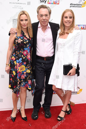 Stock Photo of Sir Andrew Lloyd Webber and daughters Imogen Lloyd Webber and Isabella Lloyd Webber