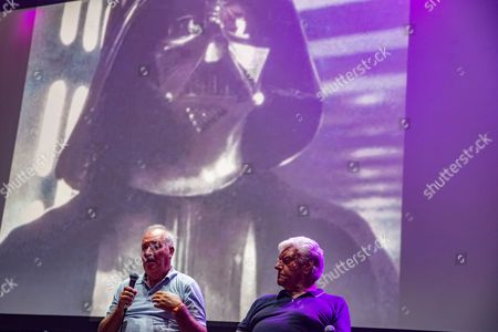 Movie scupltor Brian Muir and David Prowse (Darth Vader) at the