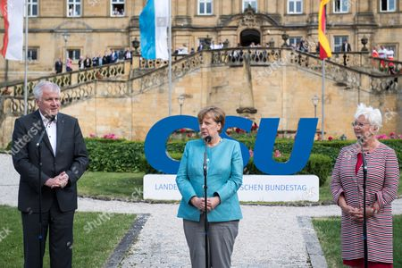 Gerda Hasselfeldt, Angela Merkel and Horst Seehofer