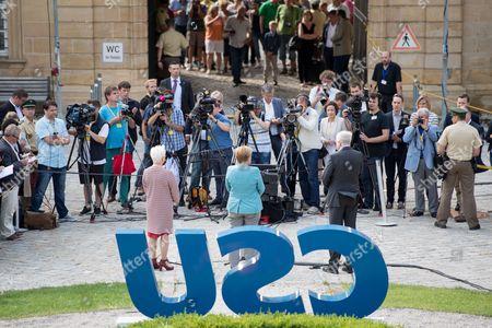 Angela Merkel, Horst Seehofer and Gerda Hasselfeldt