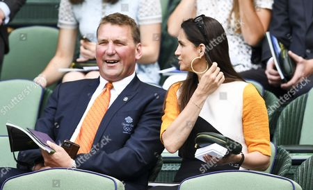 Matthew Pinsent and Demetra Pinsent in the royal box