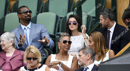 David Haye with Carl Froch and Rachael Cordingley in the royal box