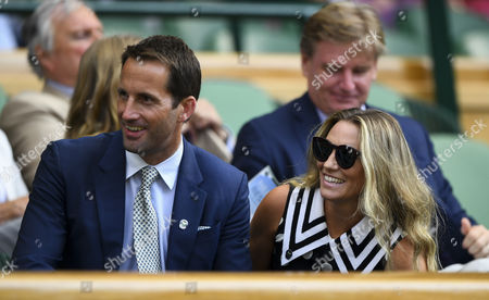 Sir Ben Ainslie and his wife Georgie Thompson in the Royal Box
