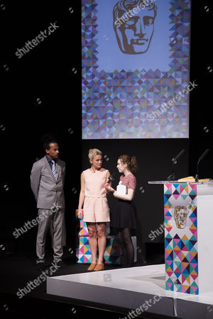 Dev Griffin & Georgie Barrat with Emily Mitchell (winner of the Game Making 15-18 years award)