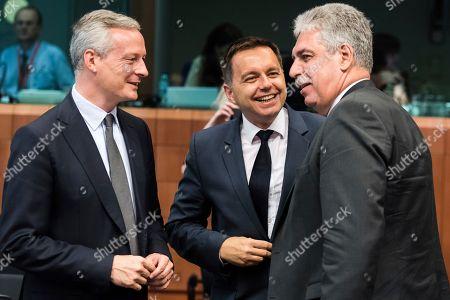 Editorial image of EU Eurogroup, Brussels, Belgium - 10 Jul 2017