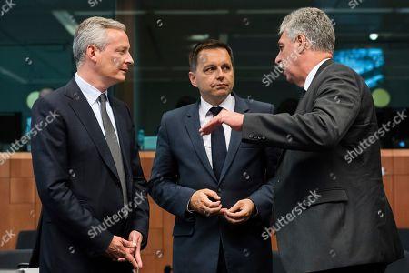 Editorial picture of EU Eurogroup, Brussels, Belgium - 10 Jul 2017
