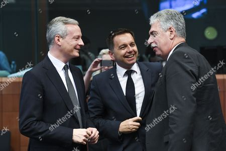 Editorial photo of Eurogroup meeting, European Union, Brussels, Belgium - 10 Jul 2017