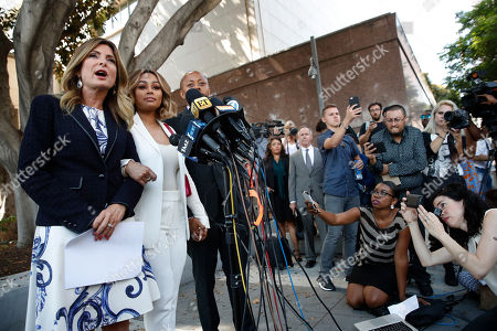 Blac Chyna, Lisa Bloom Blac Chyna, second left, stands with her attorneys Lisa Bloom, left, and Walter Mosley at a news conference outside a courthouse, in Los Angeles. A court commissioner granted Chyna a temporary restraining order against her former fiancee, reality television star Rob Kardashian