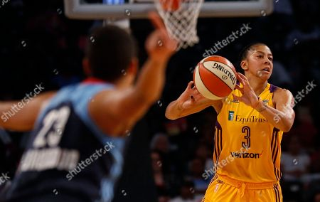 Candace Parker passes the ball during an 85-75 win over the Atlanta Dream in McCamish Pavilion in Atlanta. Post players are scoring at historic pace in the WNBA. The top three scorers in the league all operate on the low block: Phoenix's Brittney Griner, Sylvia Fowles in Minnesota and New York's Tina Charles. Never in the history of the league has three post players led the WNBA in scoring