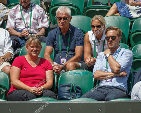 VW CEO Matthias Muller, Fed Cup captain Barbara Rittner and manager Aljoscha Thron