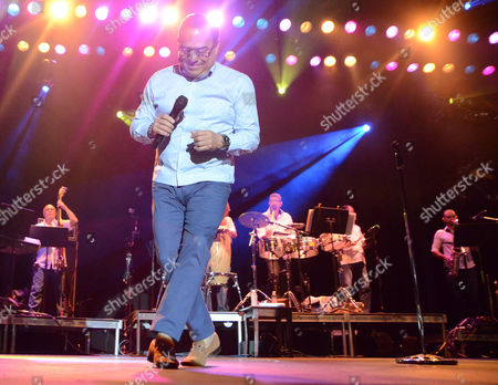 Gilberto Santa Rosa performs live at Henry Maier Festival Park during Summerfest in Milwaukee, Wisconsin