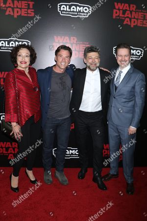 Karin Konoval, Terry Notary, Andy Serkis and Matt Reeves, director
