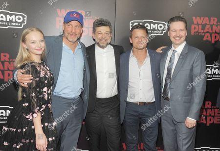 Amiah Miller, Woody Harrelson, Andy Serkis and Steve Zahn and Dan Lemmon