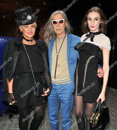 Stock Picture of Amanda Eliasch, Count Barrington De La Roche and Countess Inesa De La Roche