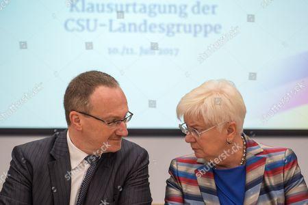 Gerda Hasselfeldt and Lars Feld