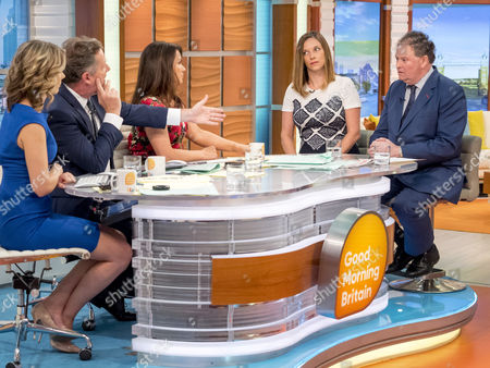 Stock Image of Charlotte Hawkins, Piers Morgan, Susanna Reid, Catherine Glenn Foster and Mark Stephens