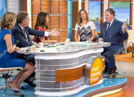 Stock Picture of Charlotte Hawkins, Piers Morgan, Susanna Reid, Catherine Glenn Foster and Mark Stephens