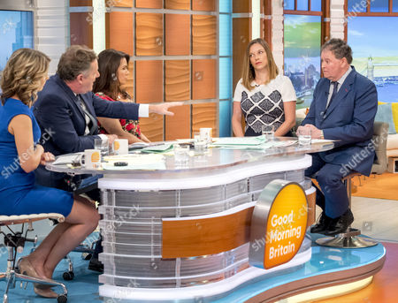Charlotte Hawkins, Piers Morgan, Susanna Reid, Catherine Glenn Foster and Mark Stephens