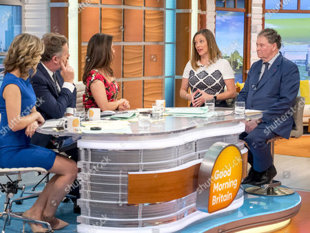 Stock Photo of Charlotte Hawkins, Piers Morgan, Susanna Reid, Catherine Glenn Foster and Mark Stephens
