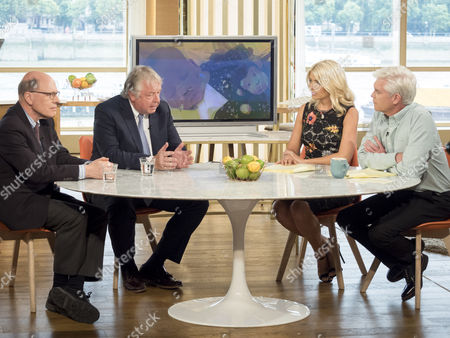 Joshua Rozenberg and Nick Ferrari with Phillip Schofield and Holly Willoughby