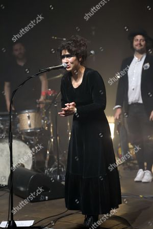 Editorial image of Laura Cahen in concert, Paris, France - 16 May 2017
